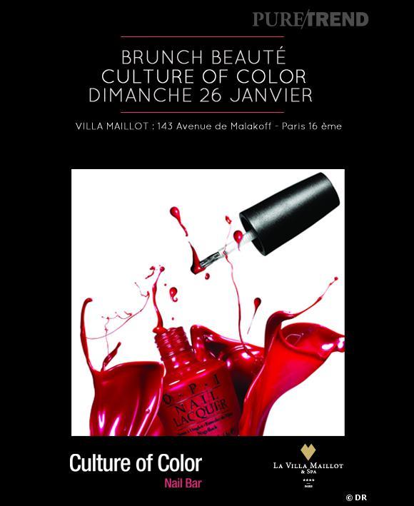 Le brunch beauté de la Villa Maillot met à l'honneur Culture of Color by O.P.I et la Pâtisserie des rêves ce dimanche.