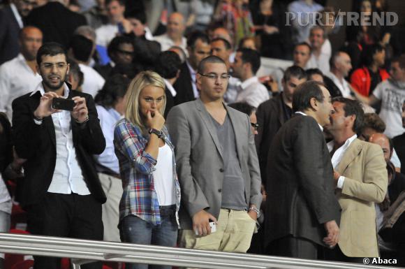 Cécile de Ménibus, concentrée lors d'un match PSG - Barcelone en août 2012.
