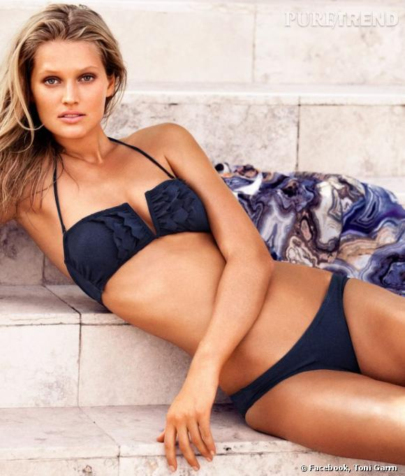 Toni Garrn pour la campagne plein été 2012 d'H&M.