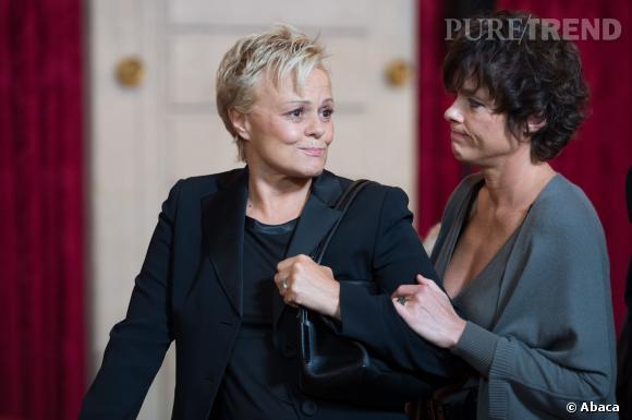 Muriel Robin et sa compagne Anne Le Nen, pacsées depuis 2009.