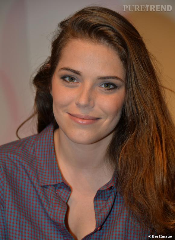 Emma Daumas, hier lors de l'élection du Bébé Cadum 2014, à l'Elysée Biarritz à Paris.