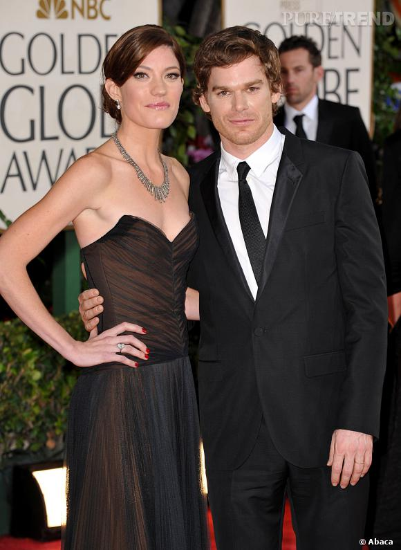 Jennifer Carpenter et Michael C. Hall aux Golden Globes.
