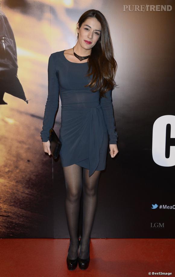 """Sofia Essaïdi en mini robe lors de l'avant-première du film """"Mea Culpa"""" dimanche 2 février 2014."""