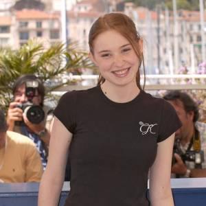Déborah François à Cannes en 2005, elle n'a que 18 ans.