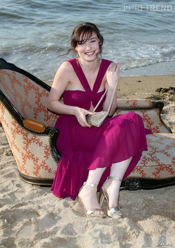 Déborah François, jolie naïade sur les plages de Deauville pour le festival de cinéma.