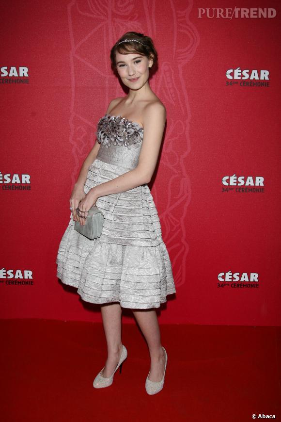 Déborah François lors de la soirée des Césars en 2009. Elle y a remporté le César du meilleur espoir féminin pour son rôle dans Le premier jour du reste de ta vie.