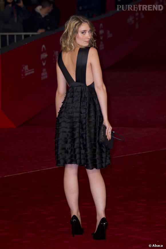 Déborah François présente le film Populaire au festival du cinéma de Rome.