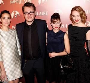 Déborah François avec l'équipe du film Populaire dont Bérénice Béjo et la jolie Mélanie Bernier.