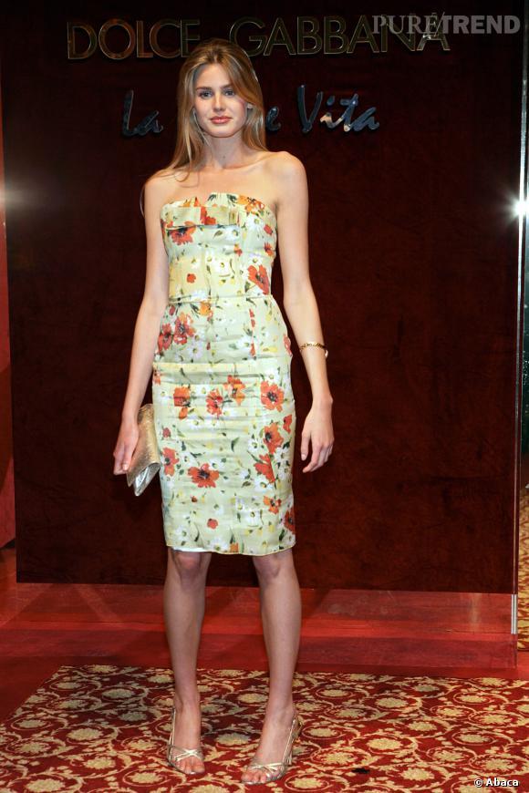 Vanessa Hessler, la jolie robe à fleurs.