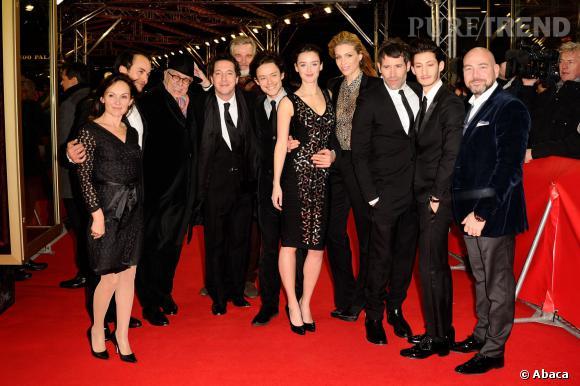 """Le casting de """"Yves Saint Laurent"""" lors de la projection du film à la Berlinale 2014."""
