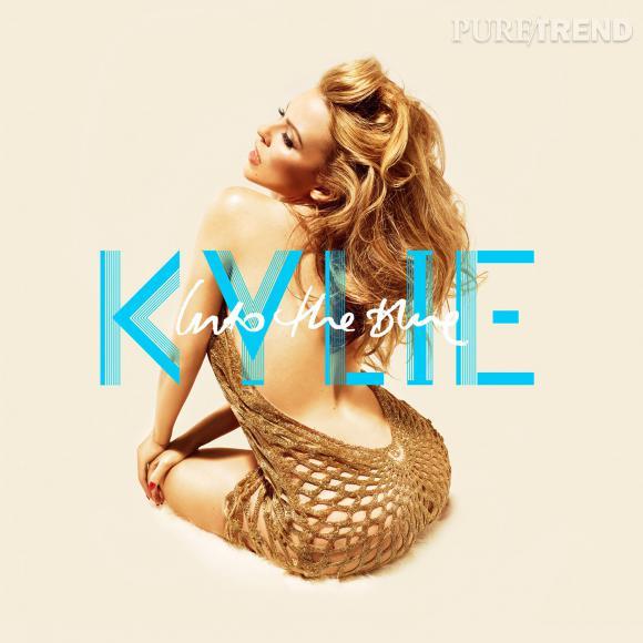 """Pochette du dernier album de Kylie Minogue """"Into the Blue"""" version """"normale""""."""