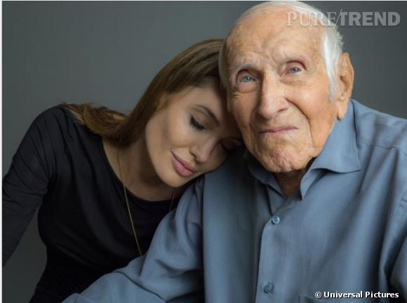 Angelina Jolie aux côtés de Louis Zamperini.