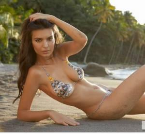 Emily Ratajkowski nue pour Sports Illustrated : sexy la peinture sur corps !