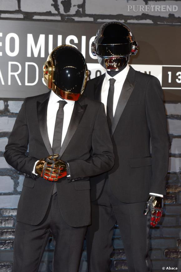 Les Daft Punk aux MTV Video Music Awards en août 2013.