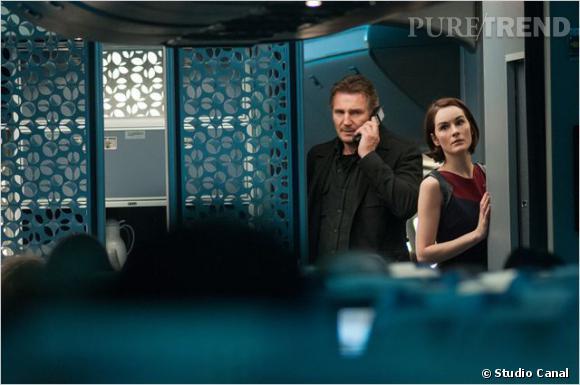 Michelle Dockery au côté de Liam Neeson.