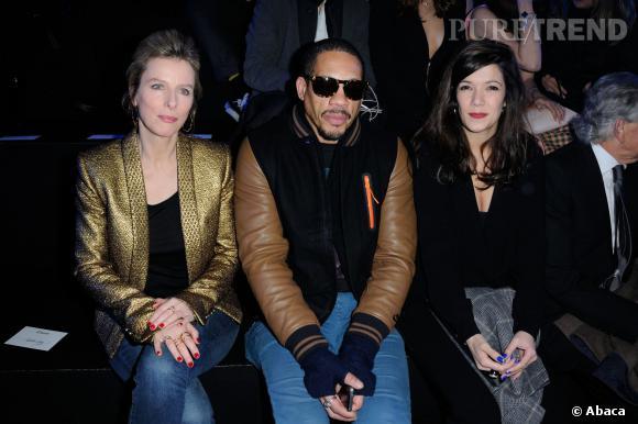 Karine Viard, JoeyStarr, Melanie Doutey au défilé ETAM Automne-Hiver 2014/2015.