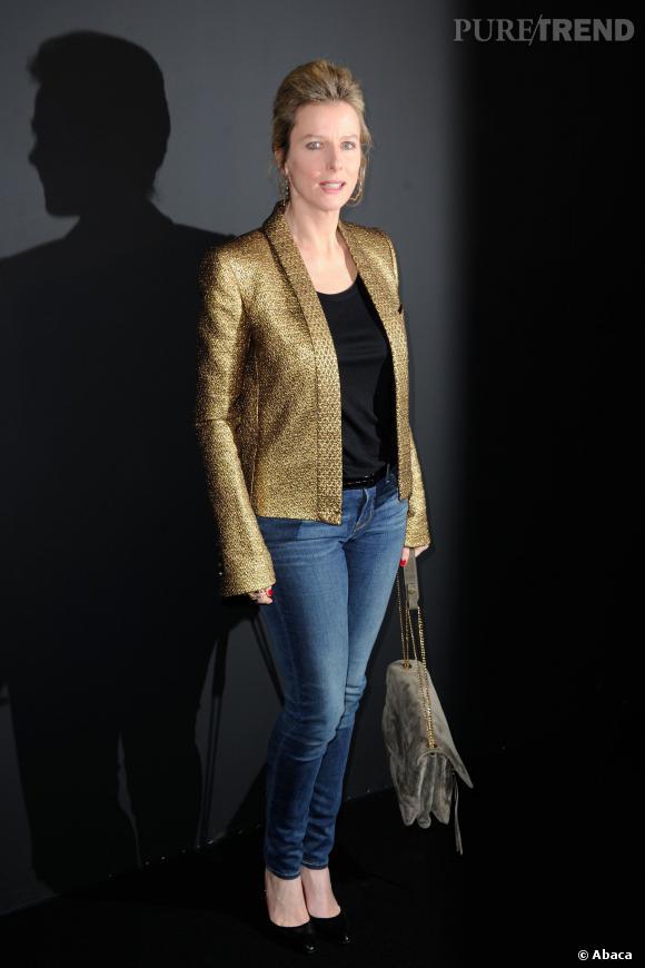 Karine Viard au défilé ETAM Automne-Hiver 2014/2015.