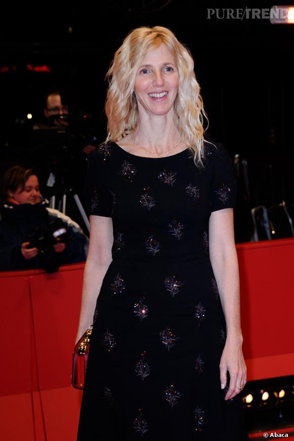 """Sandrine Kiberlain, humble et enthousiaste pour le film """"9 mois ferme"""", elle est nommée aux César 2014 pour son rôle."""