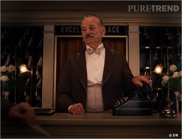 "Bill Murray dans ""Grand Budapest Hotel"" de Wes Anderson."