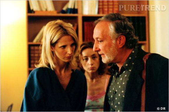 """Sandrine Kiberlain dans le film """"Filles uniques"""" dePierre Jolivet."""