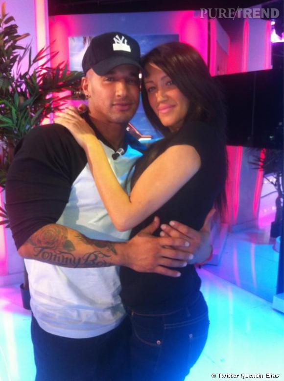 Quentin Elias et Cindy, son ex petite amie.