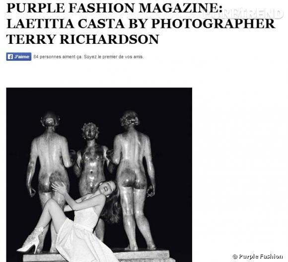 Laetitia Casta ses photos érotiques sous l'objectif de Terry Richardson pour la magazine Purple Fashion, censurées !