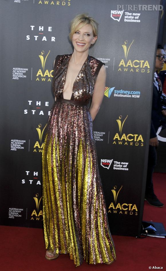 Cate Blanchett fait tourner les têtes en Givenchy lors des AACTA Awards 2014.