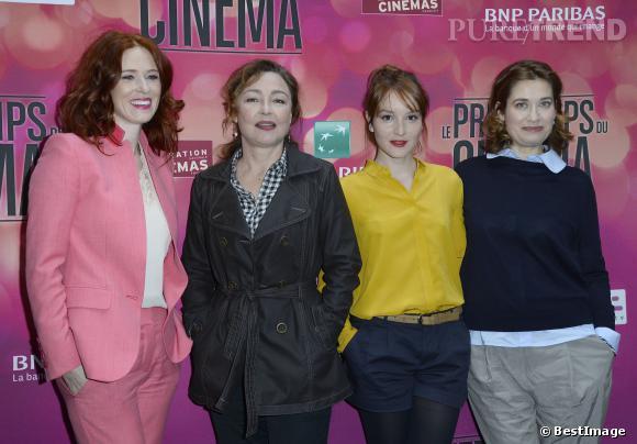 Audrey Fleurot et Anaïs Demoustier mettent de la couleur dans cette conférence de presse duPrintemps du Cinéma 2014.