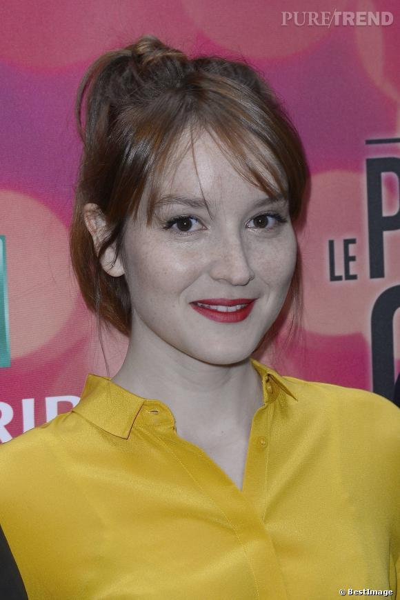 Anaïs Demoustier ravissante dans sa blouse citronauPrintemps du Cinéma 2014.