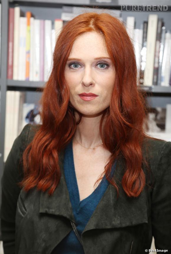Audrey Fleurot à la présentation du livre d'Alice Mitterrand, Pshycho du gâteau, le 14 octobre 2013.