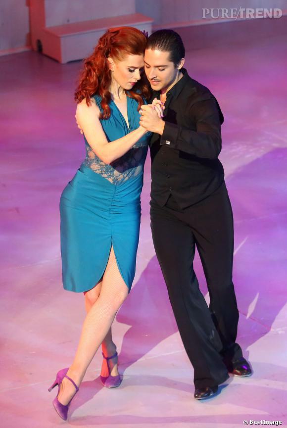 Audrey Fleurot danse le tango pur le 52ème gala de l'union des artistes, le 19 novembre 2013.