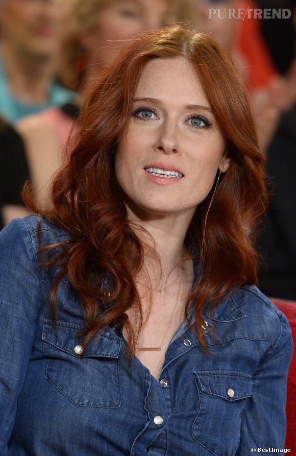 Audrey Fleurot sur le plateau de Vivement dimanche, diffusion le 16 mars 2014.