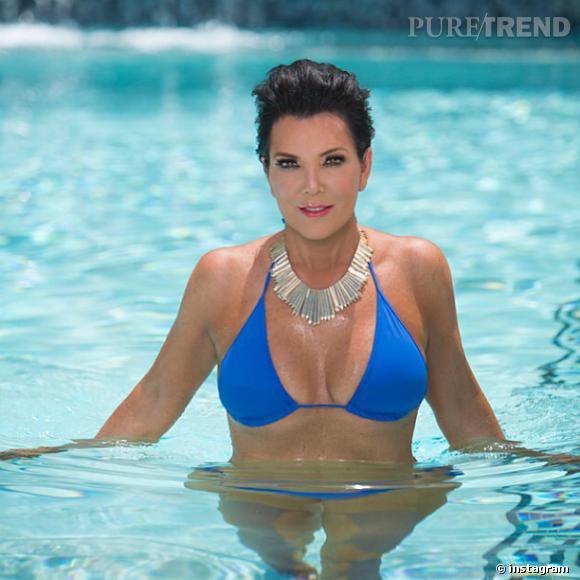 Kris Jenner aime poser en bikini et prouver qu'elle n'a rien ou presque à envier à ses filles.