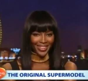 Naomi Campbell en duplex du talk-show australien The Morning Show le 24 mars 2014.