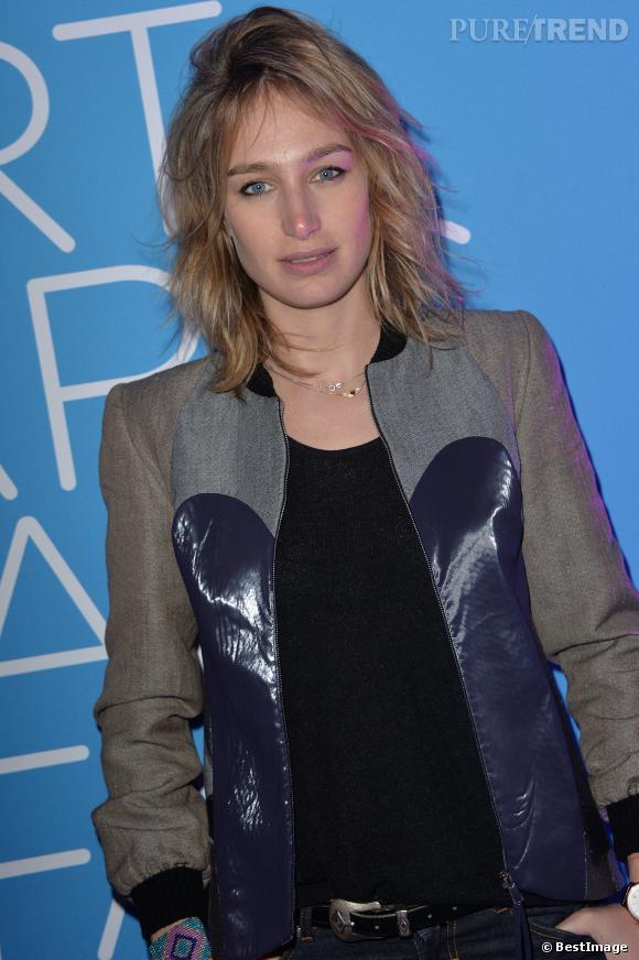 """Pauline Lefèvre à l'inauguration de l'exposition """"Art Paris Art Fair"""" le 26 mars 2014 au Grand Palais."""