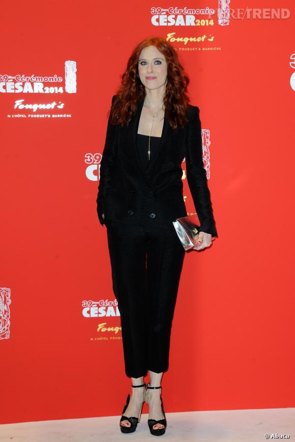 Audrey Fleurot, une jolie silhouette aux César 2014.