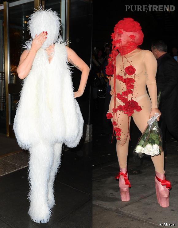 Pour le week-end de son anniversaire le 28 mars 2014, Lady Gaga s'est donnée à fond pour remporter le prix du look le plus ridicule.
