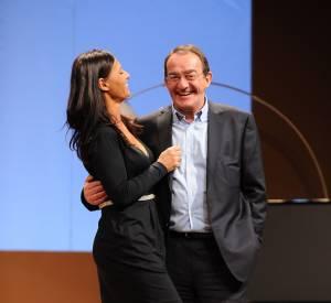 Nathalie Marquay-Pernaut et jean-Pierre Pernaut sur scène en février 2012.