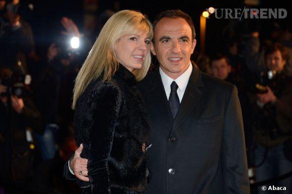 Nikos Aliagas et sa femme Tina.