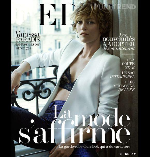 Vanessa Paradis, sex-appeal et parisienne nonchalante pour The Edit.