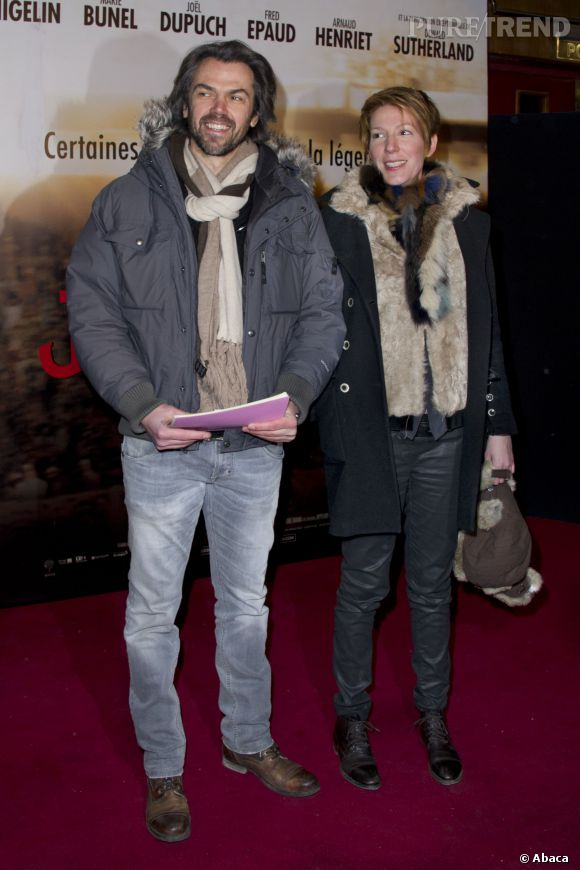 """Aymeric Caron et Natacha Polony à la première du film """"Jappeloup"""" en février 2013."""