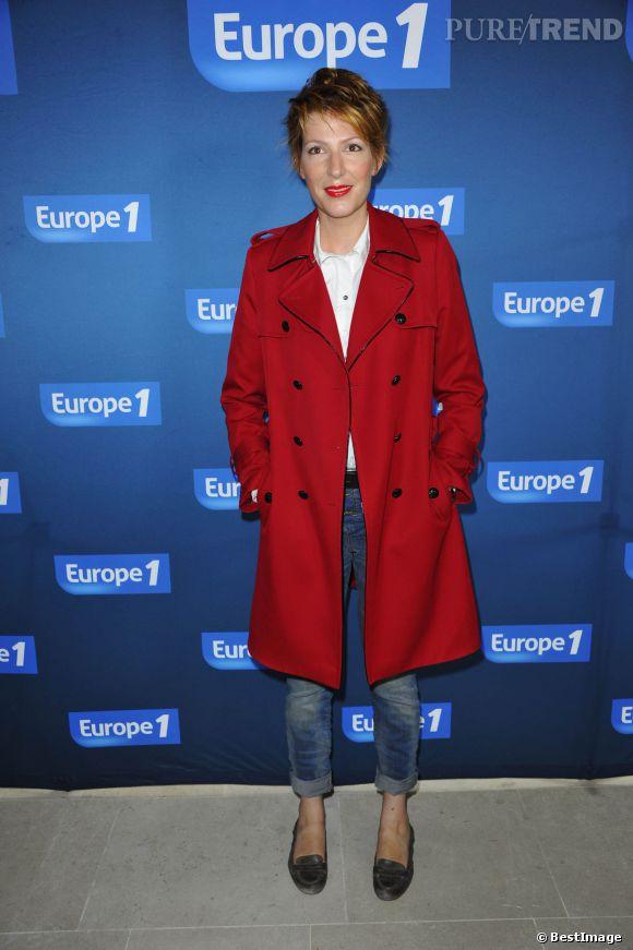 Natacha Polony à la conférence de presse de rentrée d'Europe 1 en septembre 2012.