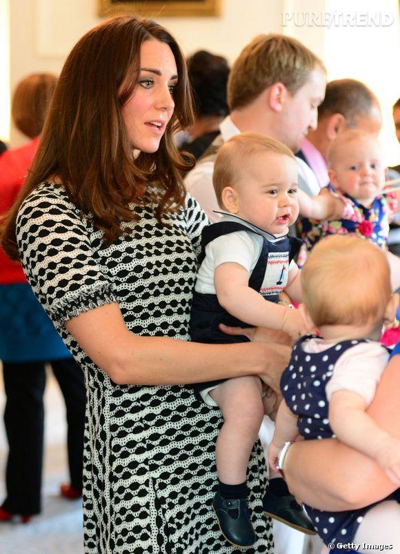 Kate Middleton et le Prince George en Nouvelle Zélande le 9 avril 2014.