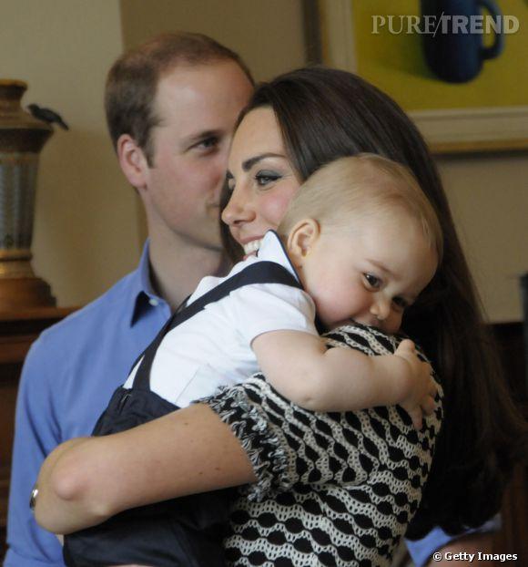 Le Prince William, Kate Middleton et le Prince George en Nouvelle Zélande le 9 avril 2014.