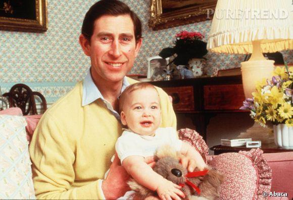Le Prince Charles et le Prince William en 1983.