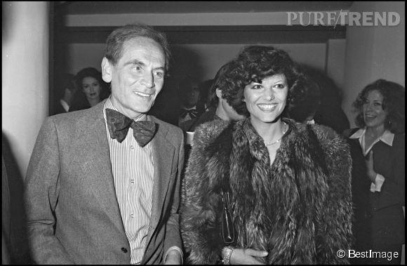 Claudia Cardinale et Pierre Cardin en 1975.
