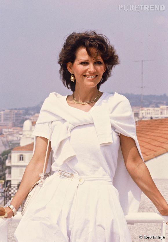 Claudia Cardinale au festival de Cannes de 1982.