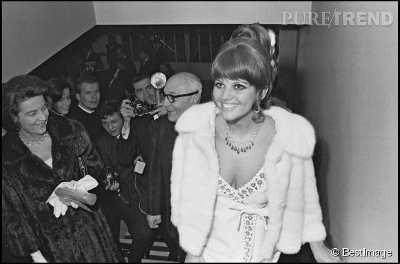 Claudia Cardinale lors de la soirée de remise des Prix Tromphe en 1967.