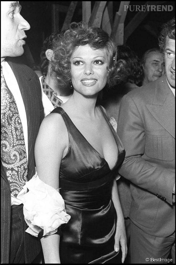Claudia Cardinale au festival de Cannes en 1972.