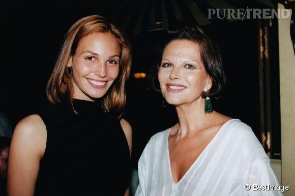 Claudia Cardinale et Ines Sastre en 1996.